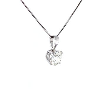 Diamond Solitaire Pendant-1ct Lab Grown